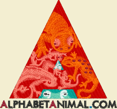 Animal Store Alphabet Embroidery