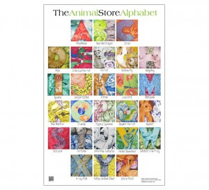 Animal Store Alphabet Book Poster