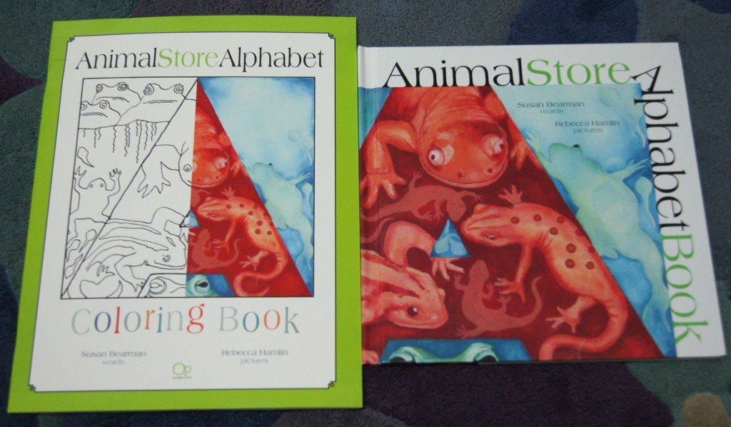 Animal Store Alphabet Book and Coloring Book